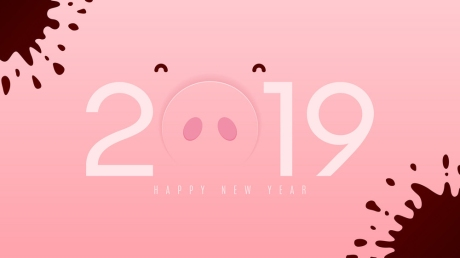 Funny card for Happy New Year 2019