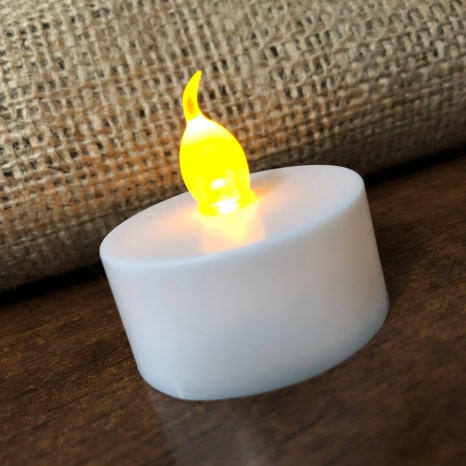 electric tealight candle top