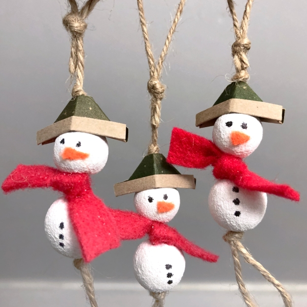 clay snowman decorations