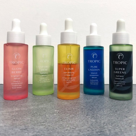 tropic skincare serums and oils