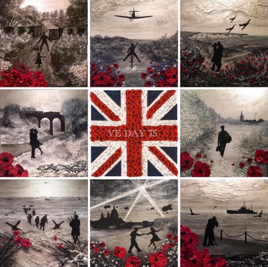 ve day 75 war poppy collection